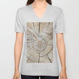 Wood Cut Unisex V-Neck