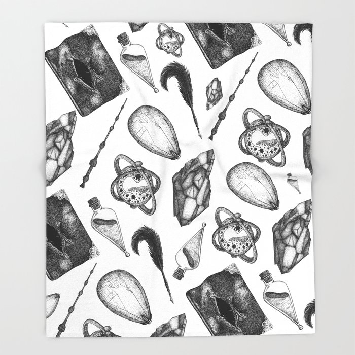 hp artifacts pattern Throw Blanket