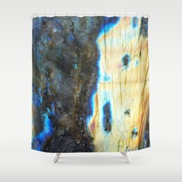 Labradorite Crystal Shower Curtain
