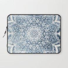 BLUEISH SEA FLOWER MANDALA Laptop Sleeve