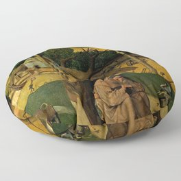 "Hieronymus Bosch ""The Temptation of Saint Anthony (Madrid)"" Floor Pillow"