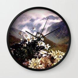 Edelweiss Summer Wall Clock
