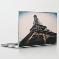 eiffel tower Laptop & iPad Skins featuring Eiffel Tower by Christine Workman