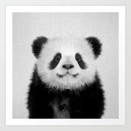 Panda Bear - Black & White Art Print