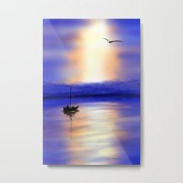 Digital Sunset Metal Print