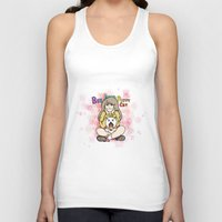 bee and puppycat Tank Tops featuring Bee and Puppycat by diana benitez