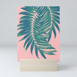 Palm Leaves Blush Summer Vibes #4 #tropical #decor #art #society6 Mini Art Print
