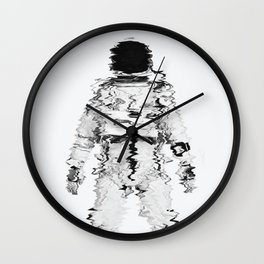 Melted spaceman Wall Clock