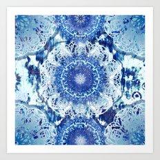 Blue Poppy Mandalas Art Print
