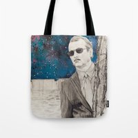 """rushmore Tote Bags featuring """"Rushmore"""" by Littlefield Designs"""
