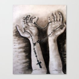 hands of creation Canvas Print