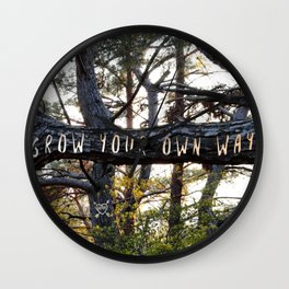 Grow Your Own Way Wall Clock