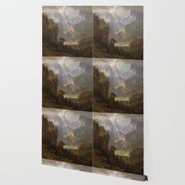 Rocky Mountains, Lander's Peak by Albert Bierstadt Wallpaper
