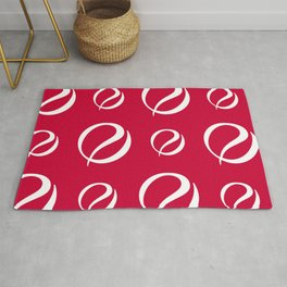 Foulard For You: Red and White Rug