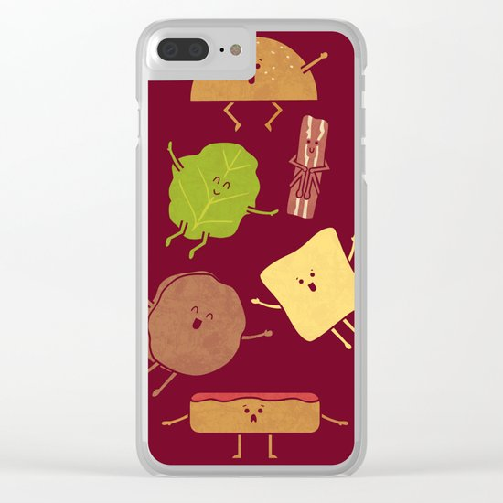 Pile On Clear iPhone Case