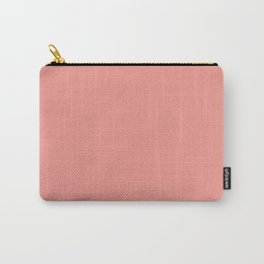 Solid coral velvet Carry-All Pouch