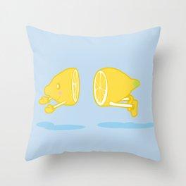 Catch the Half Lemon Throw Pillow
