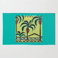 palm trees Area & Throw Rugs featuring Palm Trees by Abundance