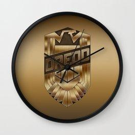 Judge Dredd Badge Wall Clock