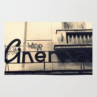 cinema Area & Throw Rugs featuring Cinema by Ioana Stef