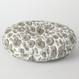 Ernst Haeckel Ammonitida Ammonite Floor Pillow