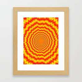 Big Bang in Red and Yellow Framed Art Print