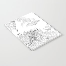 Auckland White Map Notebook