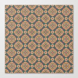 Pattern of woolen carpet Canvas Print