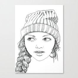 Beanie Cuteness  Canvas Print