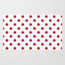 Red Polka Dots Rug