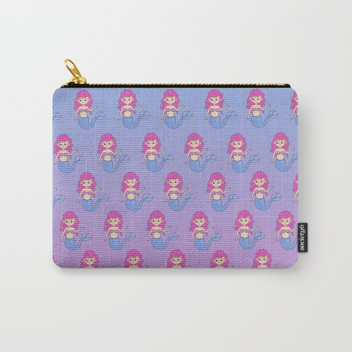 mermaids pattern Carry-All Pouch