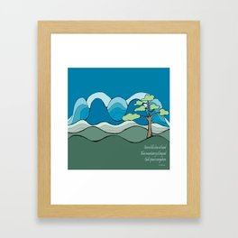 Into the Hills with Poetry  Framed Art Print