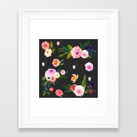 goth Framed Art Prints featuring Floral Goth by MY  HOME