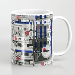 The Way of Invisible Things (P/D3 Glitch Collage Studies) Coffee Mug