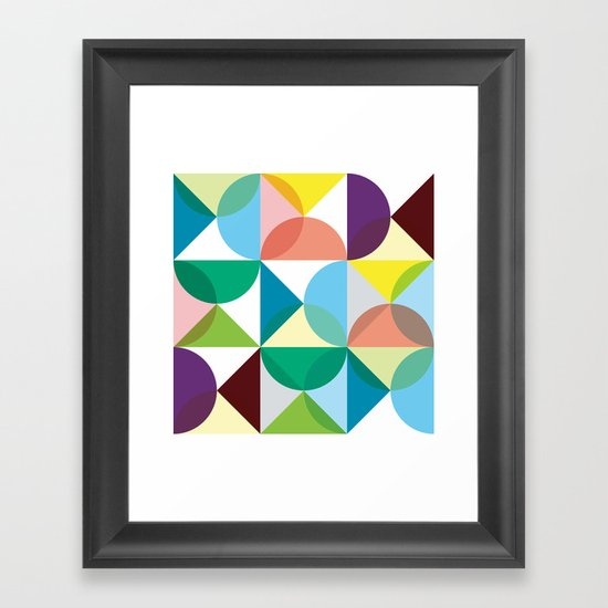 Geometry for Modern Houses (2010) Framed Art Print