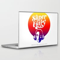 furry Laptop & iPad Skins featuring SUPER FURRY by BerkKIZILAY