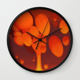 Lava Lamp Red Wall Clock