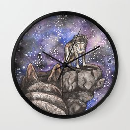 The Silent Howl Wall Clock