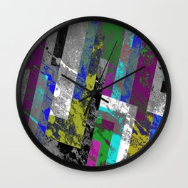 Textured Exclusion II Wall Clock