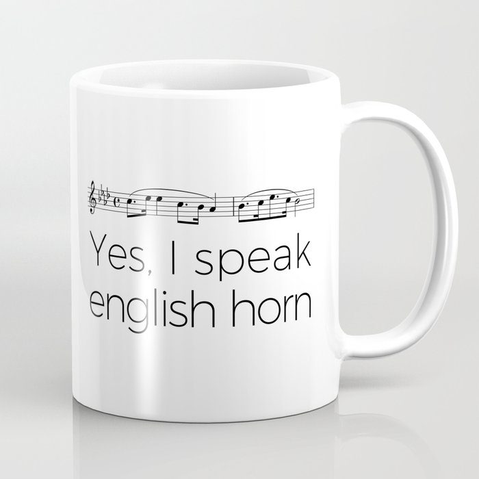 I speak english horn Coffee Mug