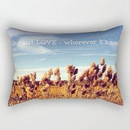 Love is Needed Rectangular Pillow