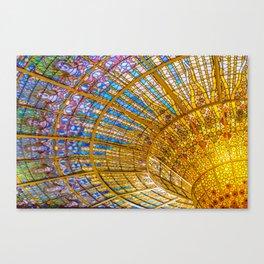Barcelona, Spain. Palau de la musica catalana, seiling Canvas Print