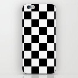 Black&White Checkered Pattern iPhone Skin