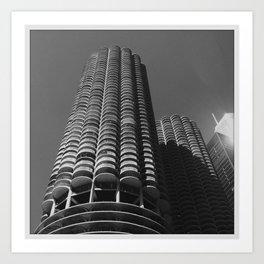 Marina Towers, Chicago Art Print