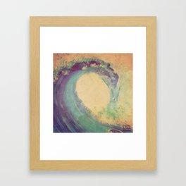 Cropped Wave Framed Art Print