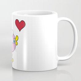 Duckling with daisy flower Coffee Mug
