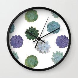 Succulent plant pattern 2 Wall Clock