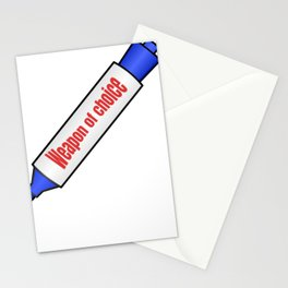 Weapon of Choice.  Funny, sarcastic teacher design. Stationery Cards