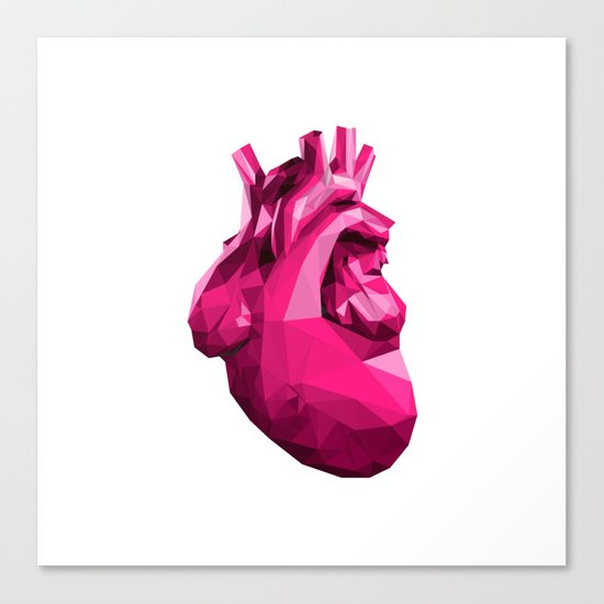 Heart - Pink Canvas Print