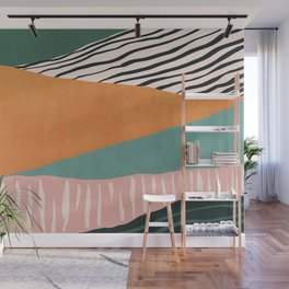 Modern irregular Stripes 02 Wall Mural